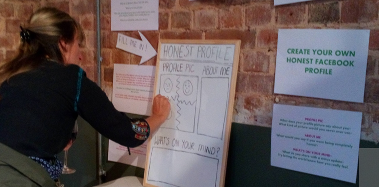 Woman writing on a whiteboard - the question is 'what's on your mind?'