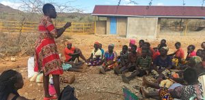 Group of women meeting together - Orus, Kenya